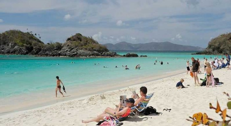 Trunk Bay, most beautiful beaches in Caribbean Islands