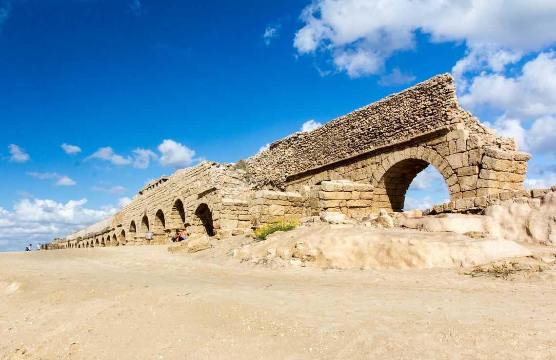 Top 10 Most Impressive Ancient Aqueducts, Caesarea Aqueduct
