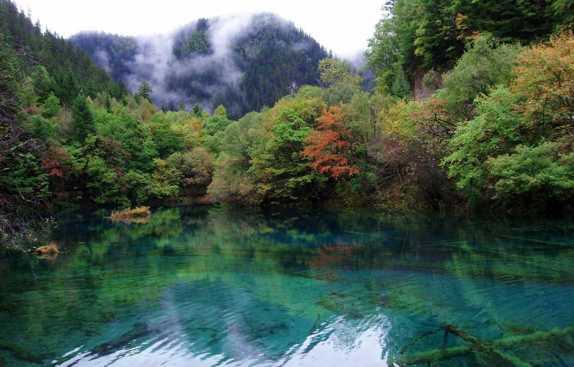 Top 10 Most Beautiful Lakes around the World, Jiuzhaigou