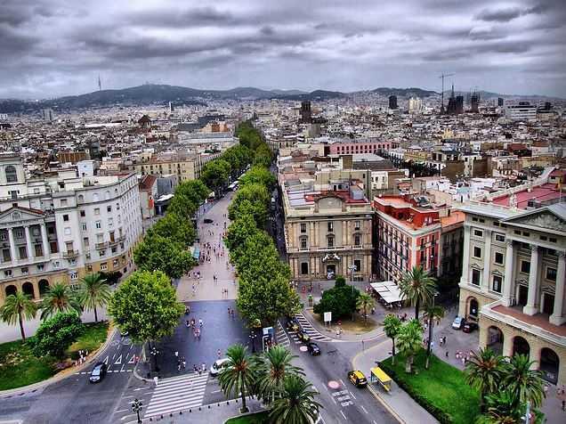 La Rambla, tourist attractions in Barcelona