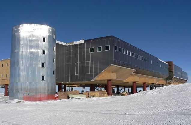 Amundsen-Scott Station, South Pole, coldest city in the world