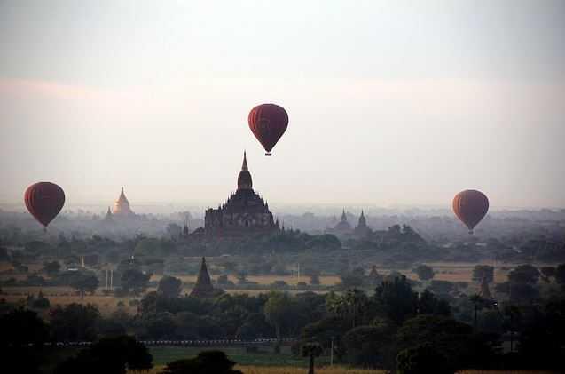 bagan, balloon flights