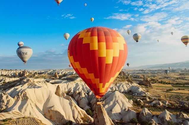 napa valley, flying balloon