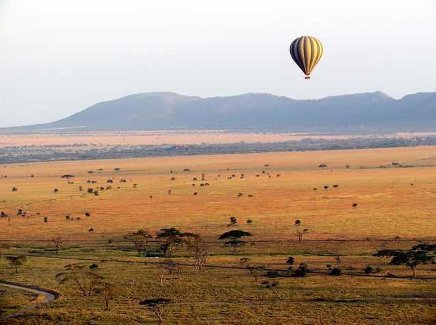 serengeti, air balloon rides